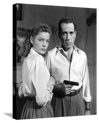 Lauren Bacall and Humphrey Bogart in 'Key Largo' 1948-Hollywood Historic Photos-Stretched Canvas Print