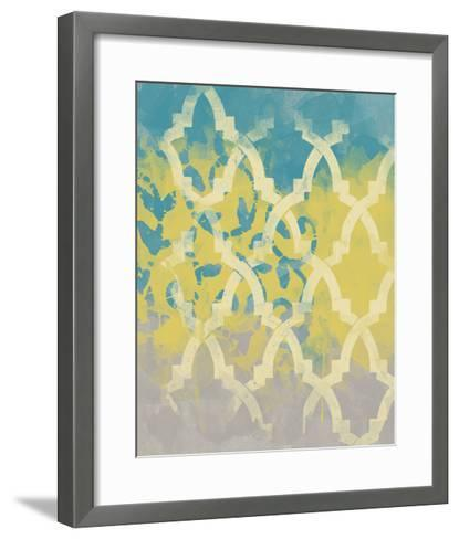 Yellow in the Middle II-Alonzo Saunders-Framed Art Print