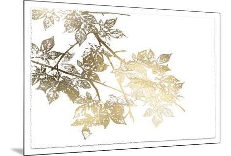 Gold Foil Maple I Deckled-Jennifer Goldberger-Mounted Art Print