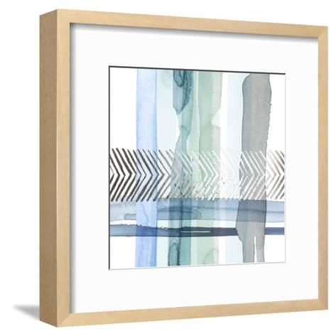 Silver Cross Stitch I-Grace Popp-Framed Art Print