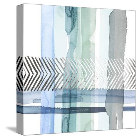 Silver Cross Stitch I-Grace Popp-Stretched Canvas Print
