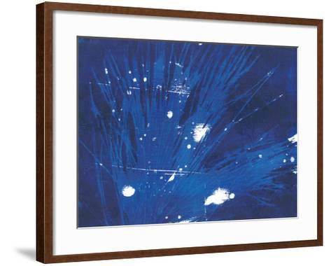 Indigo Burst II-Regina Moore-Framed Art Print