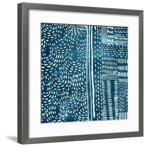 Sashiko Stitches II-Chariklia Zarris-Framed Art Print