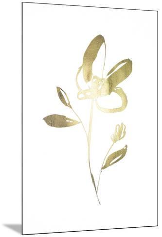 Gold Foil Sumi-e I-Jennifer Goldberger-Mounted Art Print