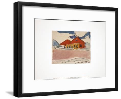 House on the Beach-Max Pechstein-Framed Art Print
