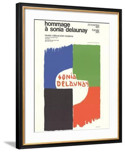 Tribute to Sonia Delaunay-Sonia Delaunay-Framed Art Print