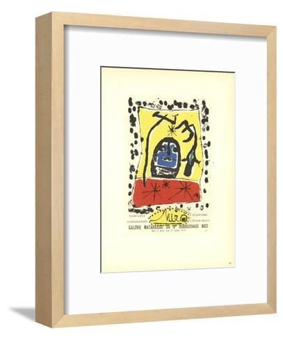 Lithographies-Joan Miro-Framed Art Print