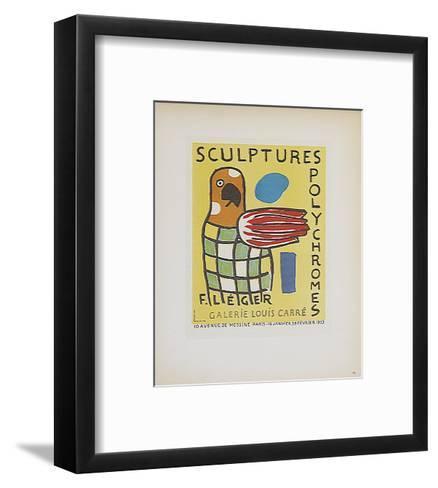 Sculptures Polychromes Galerie Louis Carre-Fernand Leger-Framed Art Print