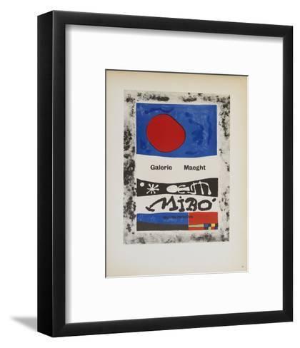 Galerie Maeght-Joan Miro-Framed Art Print