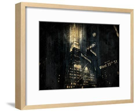 The Golden Street-Jace Grey-Framed Art Print