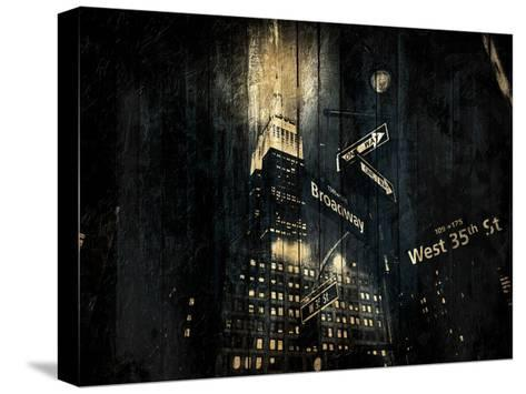 The Golden Street-Jace Grey-Stretched Canvas Print