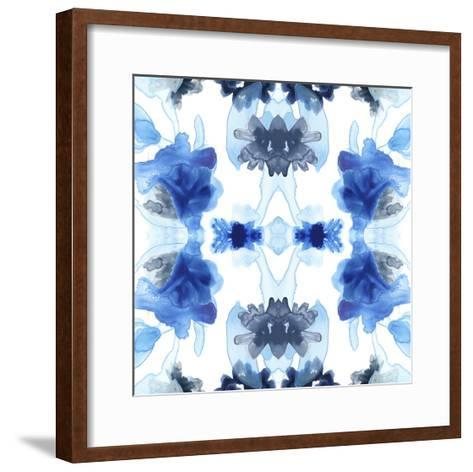 Blue Kaleidoscope II-June Erica Vess-Framed Art Print