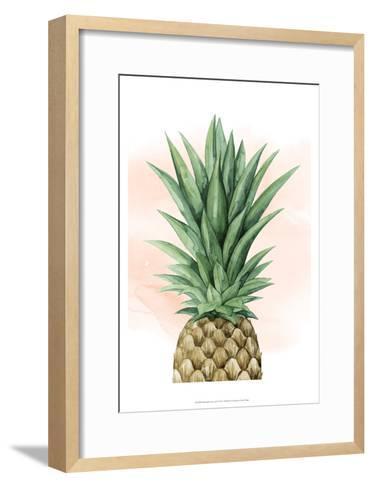 Pineapple on Coral I-Grace Popp-Framed Art Print