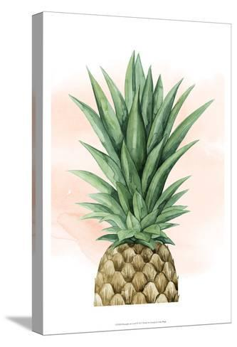 Pineapple on Coral I-Grace Popp-Stretched Canvas Print