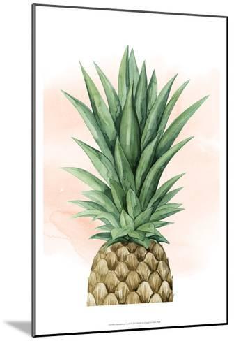 Pineapple on Coral I-Grace Popp-Mounted Art Print