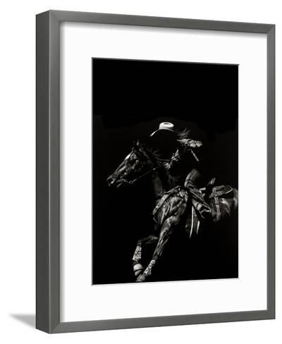 Scratchboard Rodeo I-Julie T. Chapman-Framed Art Print