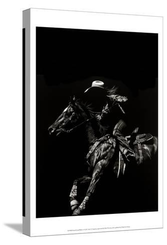 Scratchboard Rodeo I-Julie T. Chapman-Stretched Canvas Print