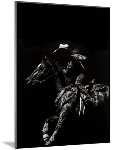 Scratchboard Rodeo I-Julie T. Chapman-Mounted Art Print