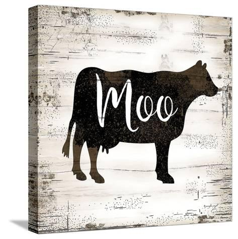 Farmhouse Cow-Jennifer Pugh-Stretched Canvas Print