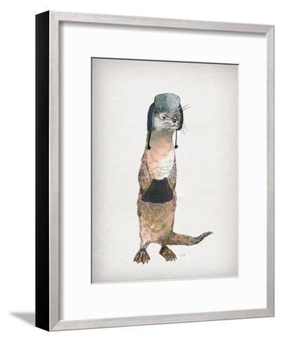 Otter-David Fleck-Framed Art Print