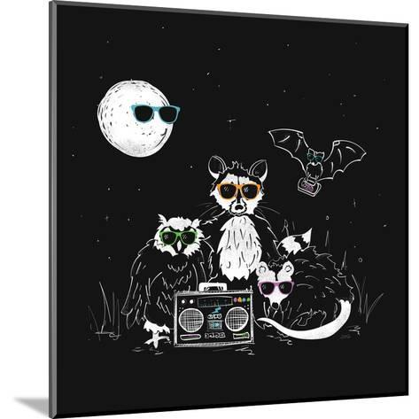 We Wear Our Sun Glasses At Night-NDTank-Mounted Art Print