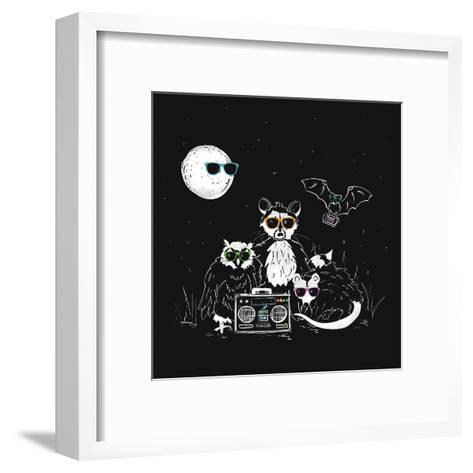We Wear Our Sun Glasses At Night-NDTank-Framed Art Print