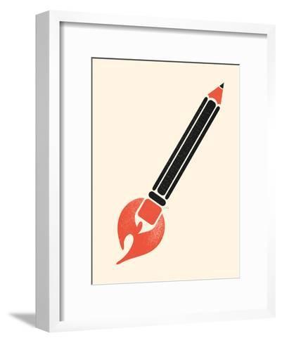 Start Something-NDTank-Framed Art Print