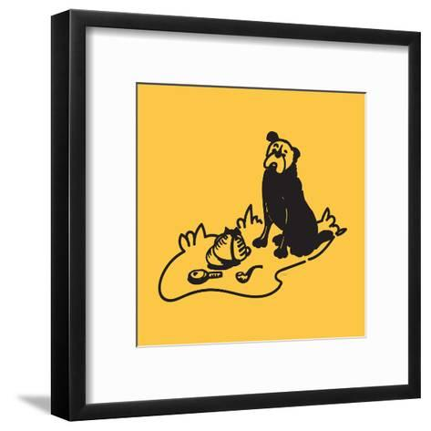 Curious Hound Of Baskervilles-NDTank-Framed Art Print