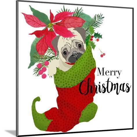 Pug Christmas-Edith Jackson-Mounted Art Print