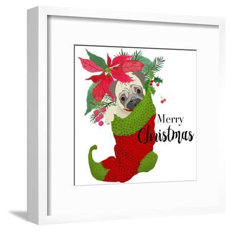 Pug Christmas-Edith Jackson-Framed Art Print
