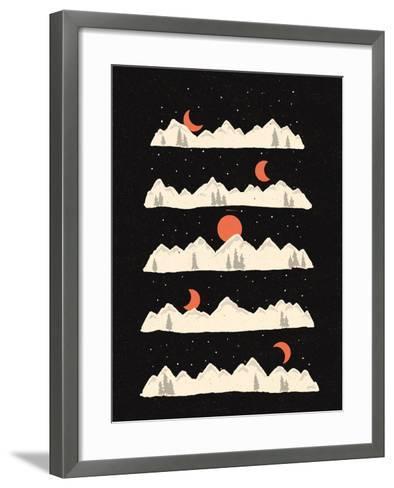 Moon Rises Moon Sets-NDTank-Framed Art Print