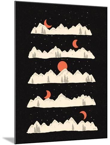 Moon Rises Moon Sets-NDTank-Mounted Art Print