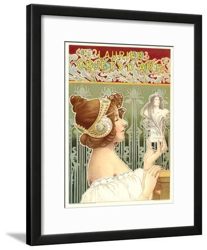 Laurier Art Nouveau Poster-Found Image Press-Framed Art Print