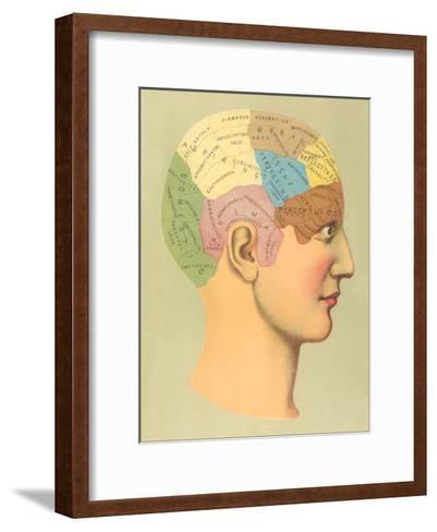 Phrenology Chart-Found Image Press-Framed Art Print
