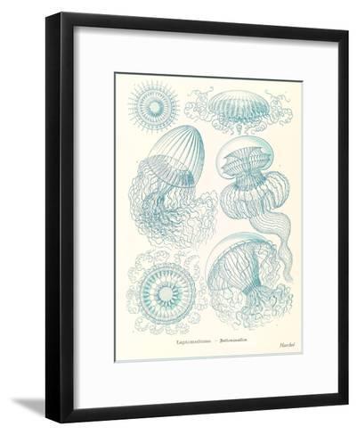 Blue Jellyfish-Found Image Press-Framed Art Print