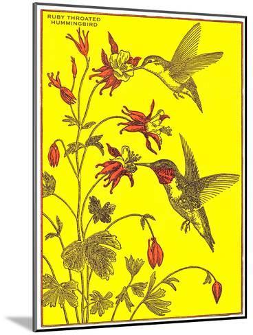 Ruby-Throated Hummingbirds-Found Image Press-Mounted Art Print
