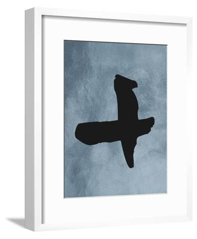 Blue Plus Sign--Framed Art Print