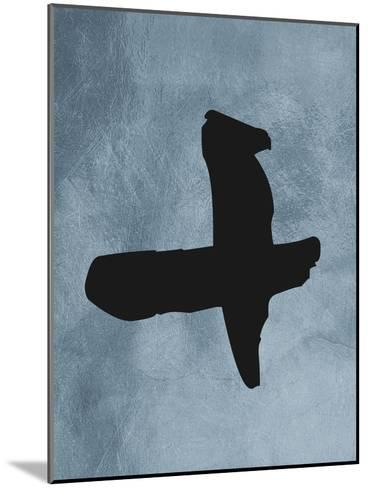 Blue Plus Sign--Mounted Art Print