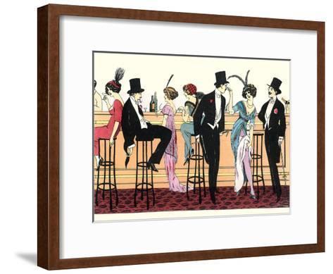 Bar In Brothel 1890-Found Image Press-Framed Art Print