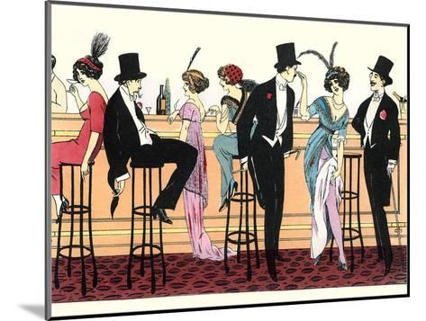 Bar In Brothel 1890-Found Image Press-Mounted Art Print