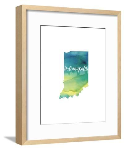 IN Indianapolis-Paperfinch-Framed Art Print