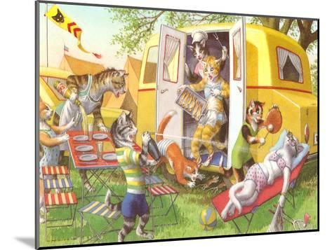 Crazy Cat Picnic-Found Image Press-Mounted Art Print