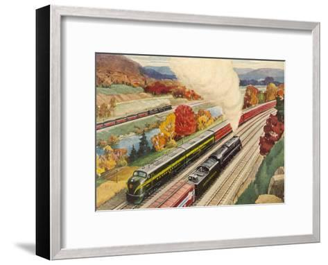 Main Lines Of Commerce-Found Image Press-Framed Art Print