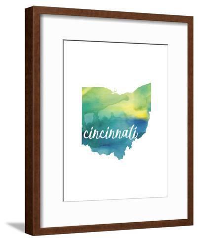 OH Cincinnati-Paperfinch-Framed Art Print