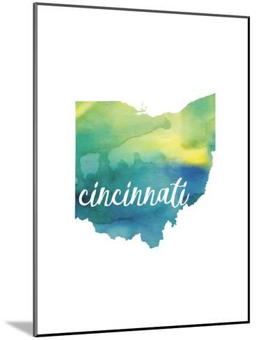 OH Cincinnati-Paperfinch-Mounted Art Print