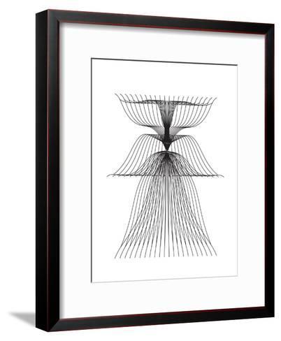 Linear Flower--Framed Art Print