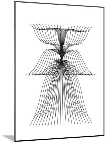 Linear Flower--Mounted Art Print