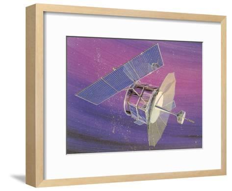 Satellitte With Solar Panels-Found Image Press-Framed Art Print