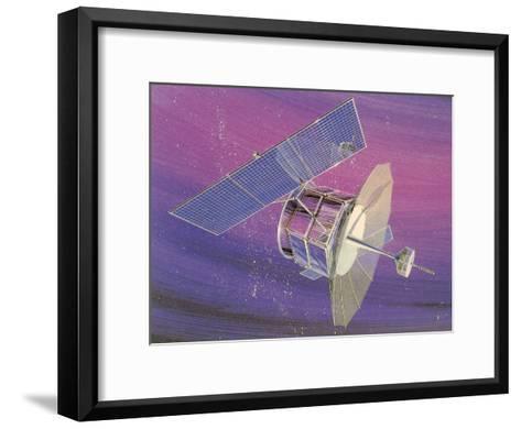 Satellitte With Solar Panels-Found Image Press-Framed Art Print