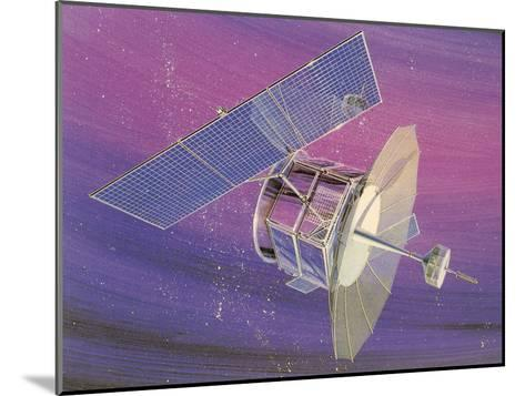 Satellitte With Solar Panels-Found Image Press-Mounted Art Print